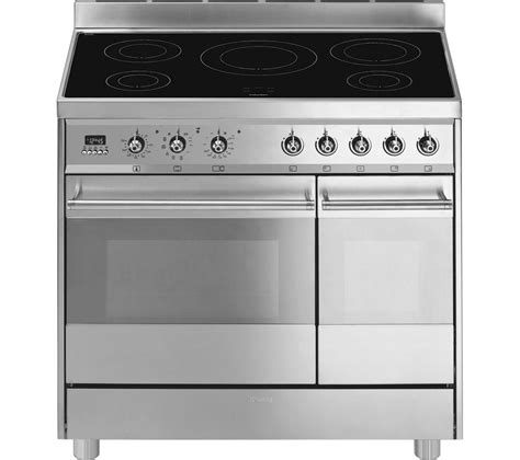 Smeg Appliances Buy Smeg C92ipx8 90 Cm Electric Induction Range Cooker Stainless Steel Free Delivery Currys