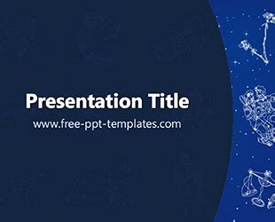 powerpoint templates for january zodiac ppt template free powerpoint templates