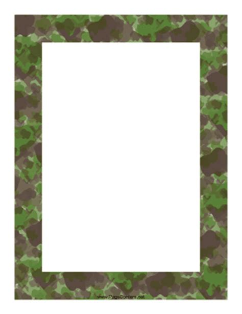 army pattern border camouflage border