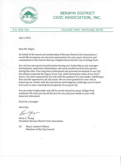 Letter Recognizing Community Service Community Service Letter Appreciation Pictures To Pin On Pinsdaddy