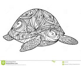 turtle coloring book adults vector stock vector image 67521097