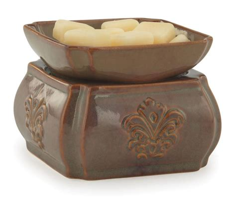 candel warmer toffee damask candle warmer and dish fragrance warmer by