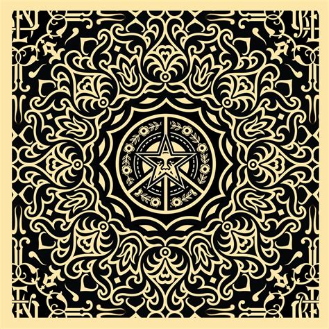 recurring pattern in french shepard fairey ornate pattern sedition
