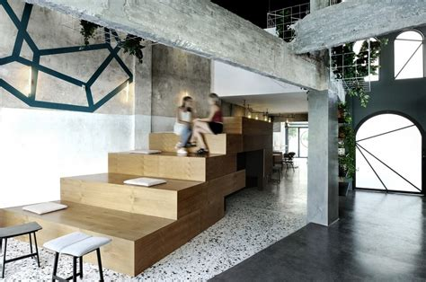 coffee shop design architecture forum black drop coffee shop in kavala greece ark4lab of