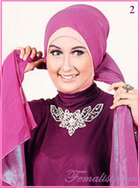 Jilbab Syari Untuk Pesta Cara Memakai Jilbab Untuk Ke Pesta Dengan Pasmina Simpel