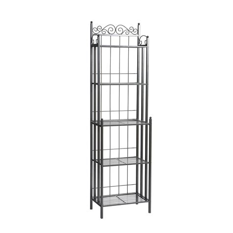 Small Bakers Rack by Sei Celtic 69 Inch Metal Bakers Rack Free