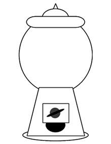 gumball machine template black and white empty gumball machine pictures to pin on