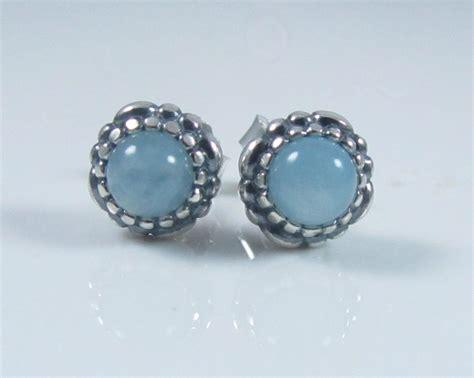 authentic genuine pandora silver aquamarine birthstone