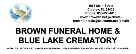 brown funeral home chipley bugle
