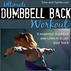 how to tone your at home dumbbell back workout best dumbbell exercises for your