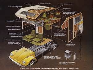 vw bug camper plans vw bug trailer mini home plans
