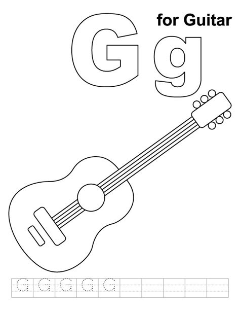 coloring page for guitar guitar coloring pages for kids az coloring pages