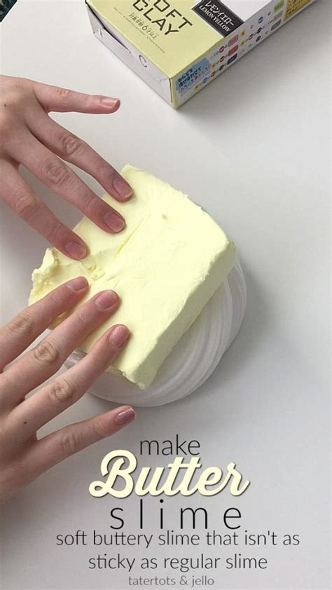 How To Make Butter Paper At Home - 3 ingredient butter slime tutorial