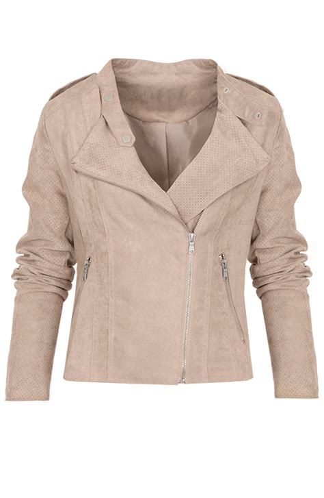 Jaket Limited suede jacket limited beige the musthaves