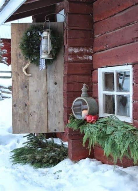 cozy rustic outdoor christmas decor ideas interior god