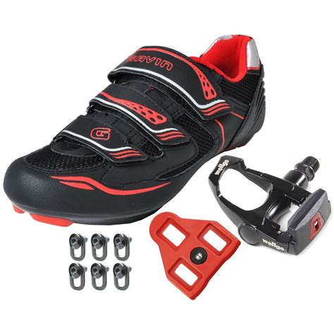 mountain bike shoes and pedals combo gavin road bike cycling shoes w pedals cleats