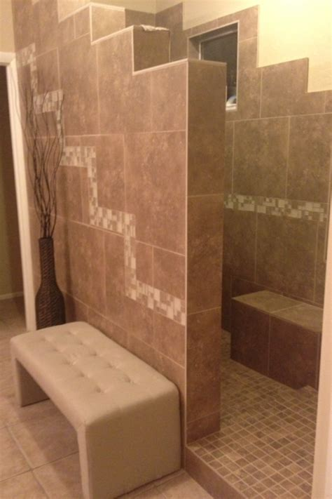Pictures Of Tiled Showers And Bathrooms Tiled Walk In Shower With No Door Bathroom Remodel Home Pinterest Doors Showers And