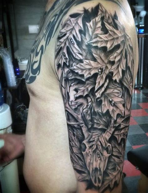 camo tattoo half sleeve 70 hunting tattoos for men skills of war in times of peace