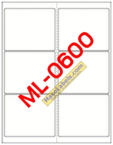 maco laser and inkjet labels template maco ml 0600 shipping labels