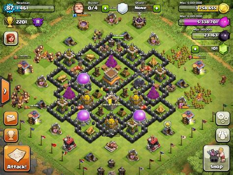 coc defense layout th8 coc best defence layout th8 with air sweeper