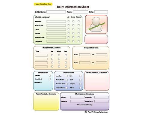 Child Daily Information Sheet   Aussie Childcare Network