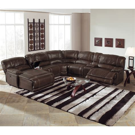 brown sectionals st malo 6 piece power reclining sectional with left