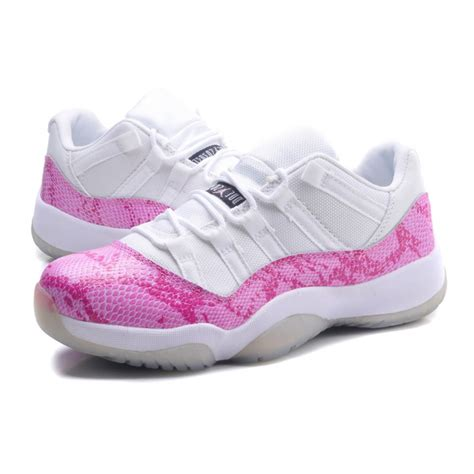 inexpensive sneakers air 11 snakeskin low white pink cheap shoes for