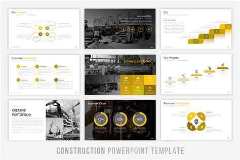 Construction Powerpoint Template By Brandearth Thehungryjpeg Com Construction Powerpoint Presentation Templates