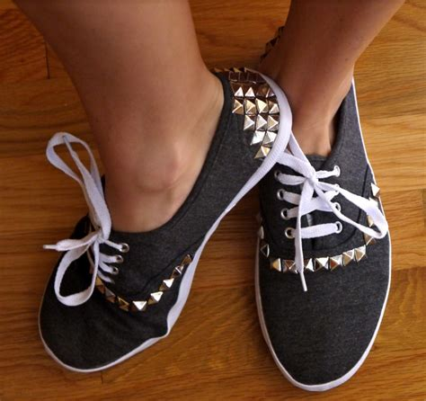 diy studs on shoes diy studded canvas sneakers pumps iron