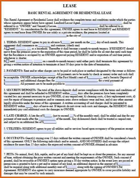 Rental Agreement Letter Ga rental lease agreement pdf apa exles