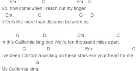 california king bed chords california king bed guitar chords tabs