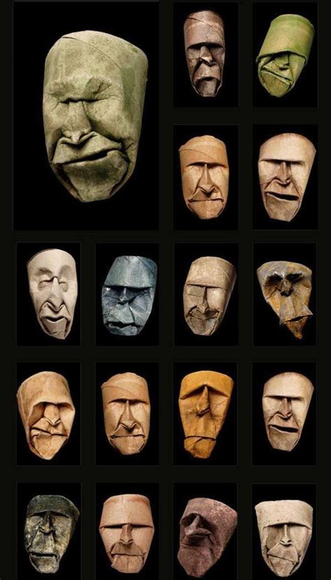 toilet paper artists toilet paper roll faces the creepiest use of a toilet