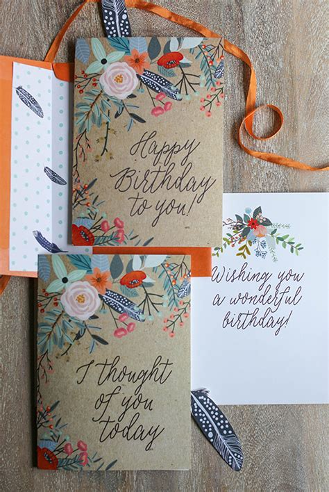 how to make a pretty birthday card pretty printable floral greetings cards lia griffith