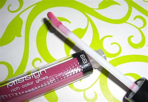 Misslyn Rich Color Gloss 176 4 5ml test lipgloss misslyn rich color gloss farbe 68 clover testbericht