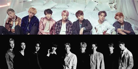 exo and bts bts shows love for exo at melon music awards allkpop com