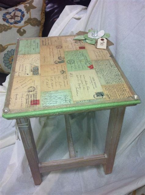 Decoupage Wood Table - best 25 decoupage table ideas on