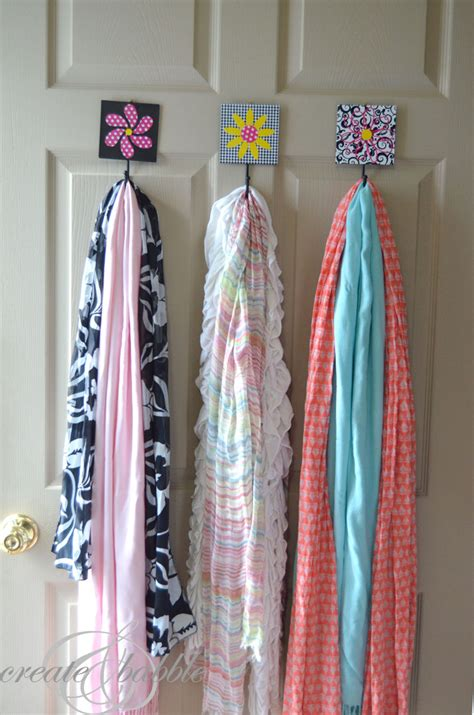 scarf storage solution create and babble