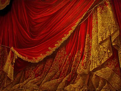 red curtain stage backdrop vintage theater stage curtain red by eveyd on