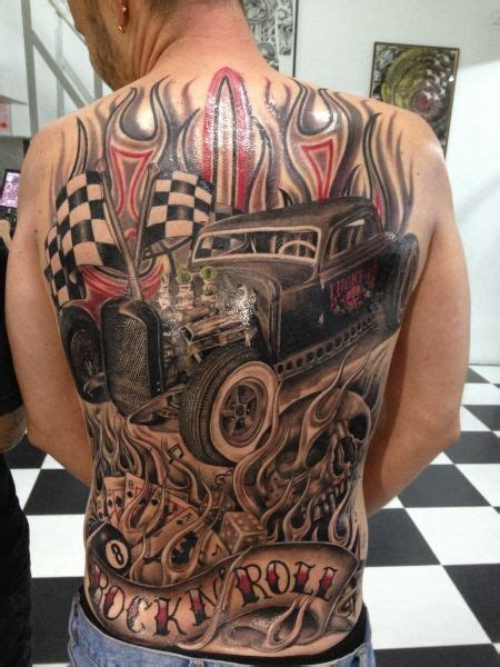 bad tattoo hot rod bildresultat f 246 r rockabilly car tattoo tatueringar