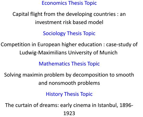 thesis subjects how to choose a thesis topic