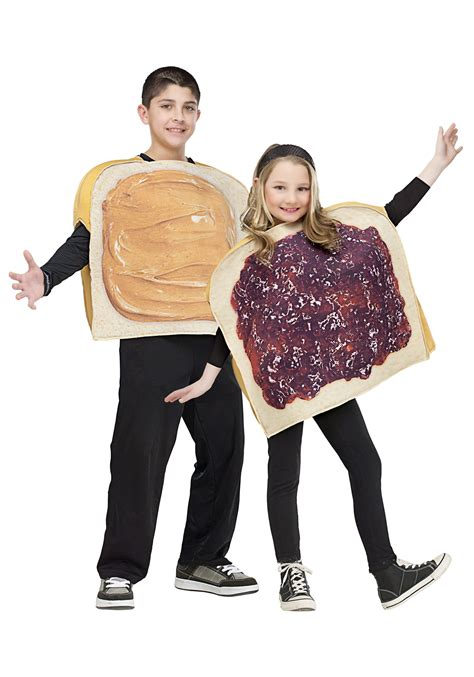 j costumes child peanut butter and jelly costume