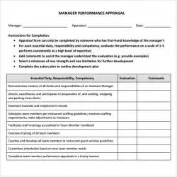 Manager Evaluation Template by Manager Evaluation 3 Free For Pdf