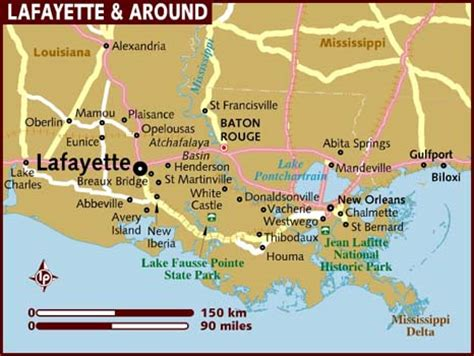 new orleans usa map map of lafayette