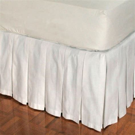 white bed skirt queen white queen bedskirt 16 inch drop