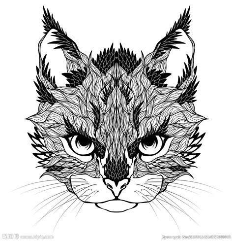 动物纹身图案设计图 野生动物 生物世界 设计图库 昵图网nipic com