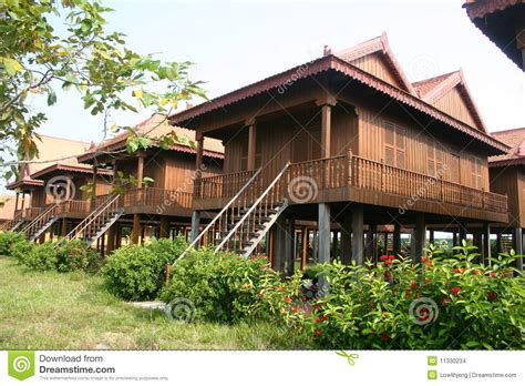 home design company in cambodia traditional cambodian wooden houses stock photo image