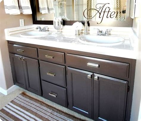 how to paint a bathroom cabinet get inspired 15 bathroom makeovers how to nest for less