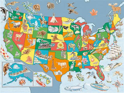 magnetic usa map for rv usa map puzzle 100 pieces