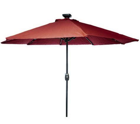 Patio Umbrella With Lights Qvc Remote Controlled 9 Olefin Market Umbrella W Solar Lights