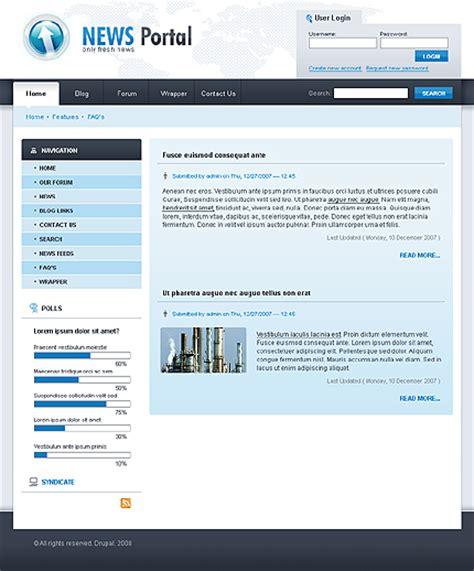 drupal admin template template 20890 news portal drupal template